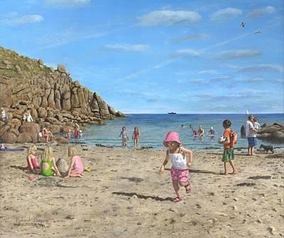 Time To Go Home - Porthgwarra Beach Cornwall Print by Richard Harpum