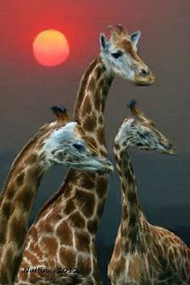 Giraffe Painting - Time To Go To Bed Boys by Bruce Nutting