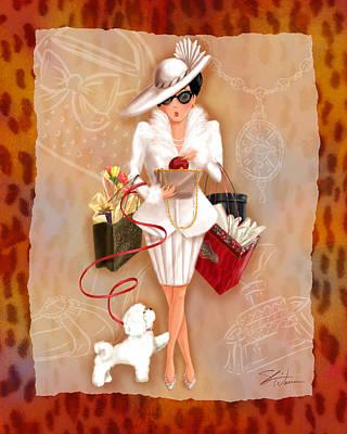 Shoe Mixed Media - Time To Shop 1 by Shari Warren