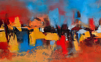 Abstractions Painting - Time To Time by Elise Palmigiani