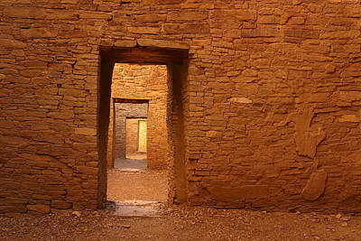 Chaco Canyon Photograph - Timeless Doorways by Allen W Sanders
