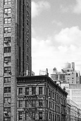 Timeless New York City Rooftops - 7th Avenue Print by Mark E Tisdale