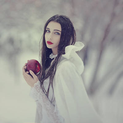 timeless story of Snow white 1 Print by Anka Zhuravleva