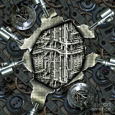 Timemachine - Open Heart Print by Diuno Ashlee