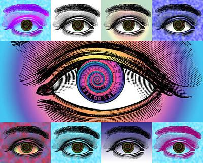 Steampunk Digital Art - Time's Eye by Eric Edelman