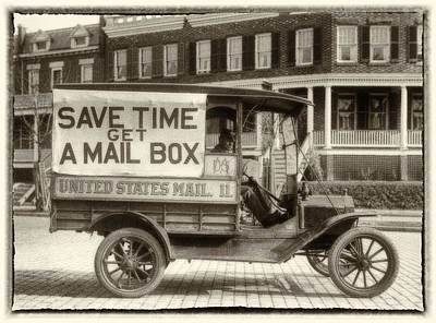 Us Postal Service Painting - Times Have Changed by Jack Zulli