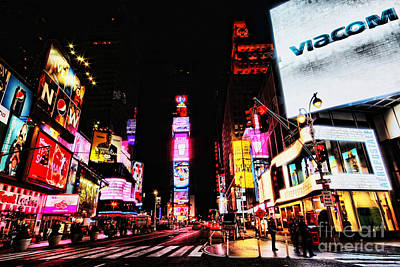 New York Cops Photograph - Times Square by Andrew Paranavitana