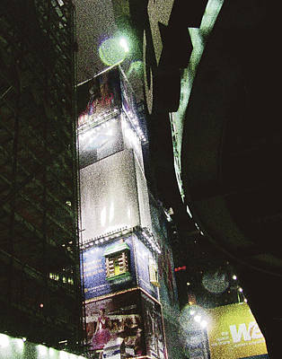 Times Square In Nyc Print by Mieczyslaw Rudek Mietko