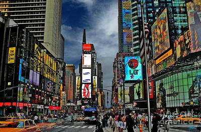 Nyc Digital Art - Times Square by Jeff Breiman