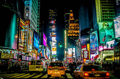 Times Square Nyc Print by Johnny Lam