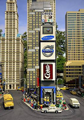 Times Square Print by Ricky Barnard