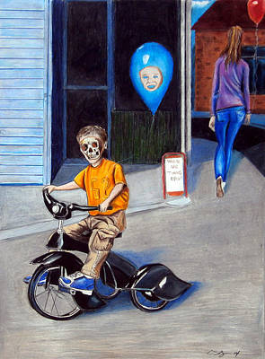 Tricycle Drawing - Timmy's New Tricycle by Chris Benice