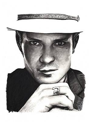 Rosalinda Drawing - Timothy Olyphant by Rosalinda Markle