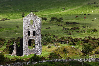 Engine House Photograph - Tin Mining Legacy Cornwall by James Brunker