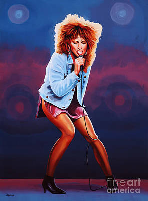 Clapton Painting - Tina Turner by Paul Meijering