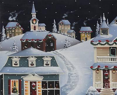 Tinsel Town Christmas Print by Catherine Holman