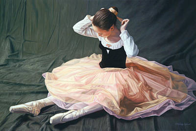Ballet Painting - Tiny Dancer by Julia O'Malley-Keyes