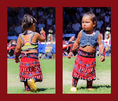 Dyptich Photograph - Tiny Jingle Dancer by Theresa Tahara