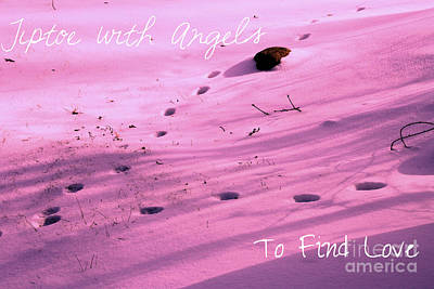Tiptoe With Angels To Find Love Print by Mike Grubb