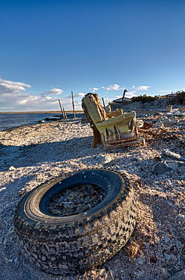 Rocking Chairs Photograph - Tired Old Chair by Scott Campbell