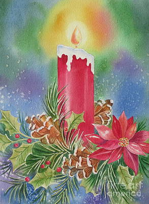 Christmas Greeting Painting - Tis The Season by Deborah Ronglien