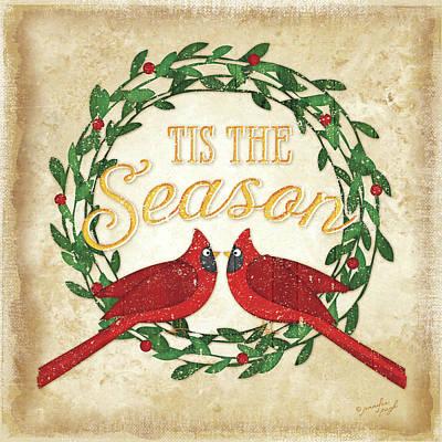 Christmas Painting - Tis The Season by Jennifer Pugh