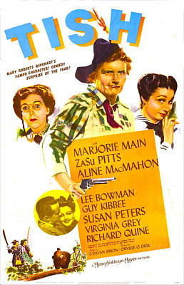 Tomboy Photograph - Tish, Us Poster, From Left Zasu Pitts by Everett