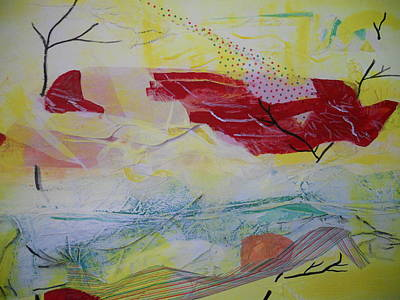 Outsider Art Painting - Tissue Paper Abstract 114 by Dotti Hannum