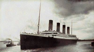 Titanic 1912 Vintage Print by Dan Sproul