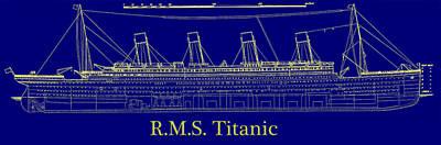 Sink Digital Art - Titanic By Design by Bill Cannon