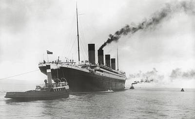 At Sea Photograph - Titanic Ready For Her Maiden Voyage by English Photographer