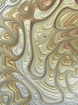 Future Dreaming Digital Art - Titanium Flow by John Edwards