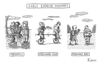 Title: Early Exercise Machines. Three Early Print by Zachary Kanin
