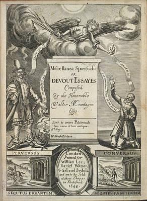 Title Page Of Miscellanea Spiritualia Print by British Library