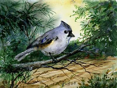 Titmouse Original by Virginia Potter
