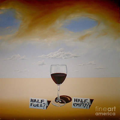 Glass Of Wine Painting - To Be Or Not To Be by Ric Nagualero