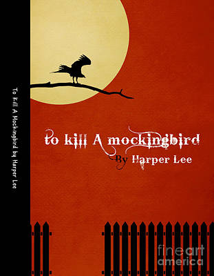 Mockingbird Drawing - To Kill A Mockingbird Book Cover Movie Poster Art 1 by Nishanth Gopinathan