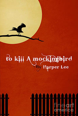 Mockingbird Drawing - To Kill A Mockingbird Book Cover Movie Poster Art 2 by Nishanth Gopinathan