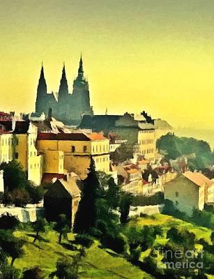 Prague Mixed Media - To Prague With Love... by Binka Kirova
