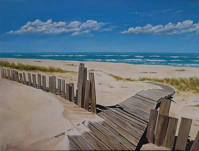 To The Beach Print by Paul Bennett