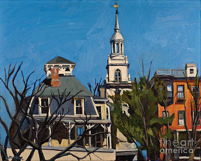 Southie Painting - To The Heights by Deb Putnam