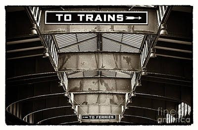 New To Vintage Photograph - To Trains by John Rizzuto