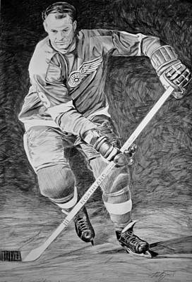 Nhl Ice Hockey Drawing - To You Is Mr. Hockey  by Peter Jurik