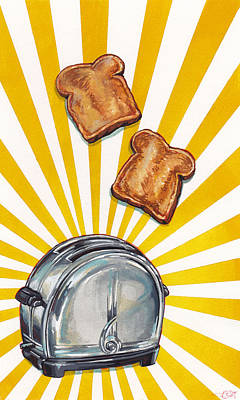 Toast And Toaster Print by Kelly Gilleran
