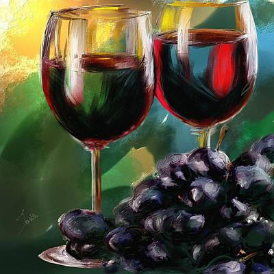 Toast Of Wine Print by Robert Smith