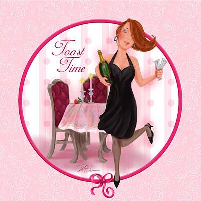 Girls Mixed Media - Toast Time by Shari Warren