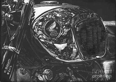 Scratchboard Drawing - Toaster Tank by Matthew Jarrett