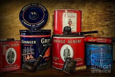 Granger Photograph - Tobacciana - Tobacco Tins by Paul Ward