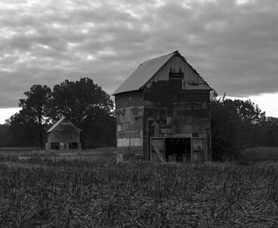 Murray Kentucky Photograph - Tobacco Barns by Amber Kresge