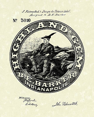 Tobacco Label  Patent Art Print by Prior Art Design